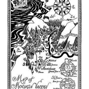 muumilaakson kartta juliste