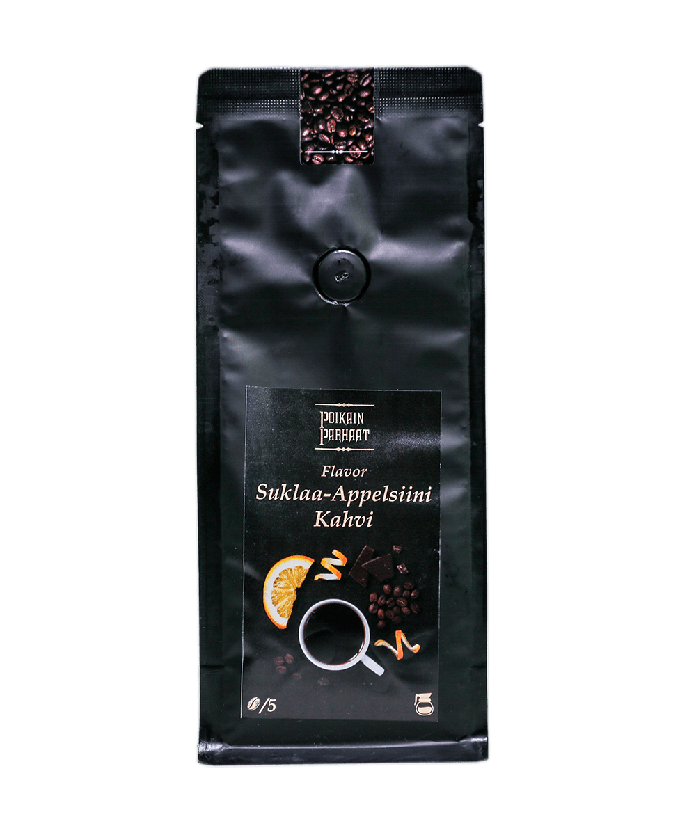 suklaa-appelsiini kahvi