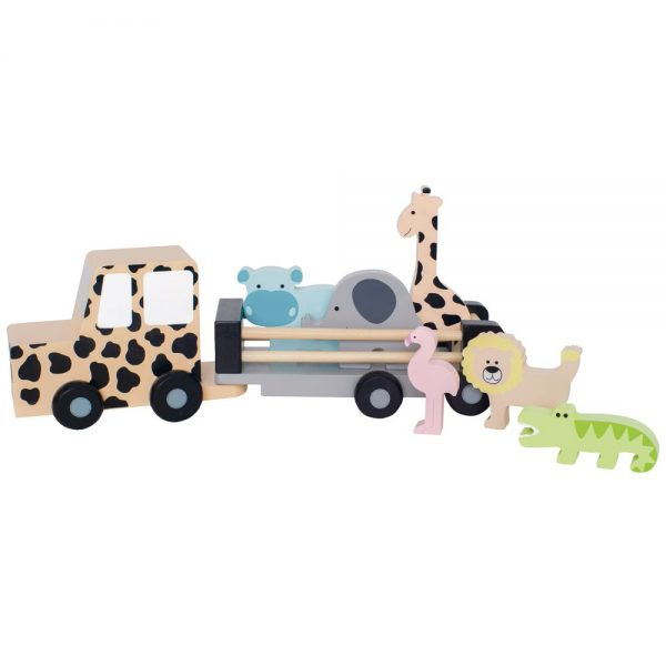 safariauto ja eläimet